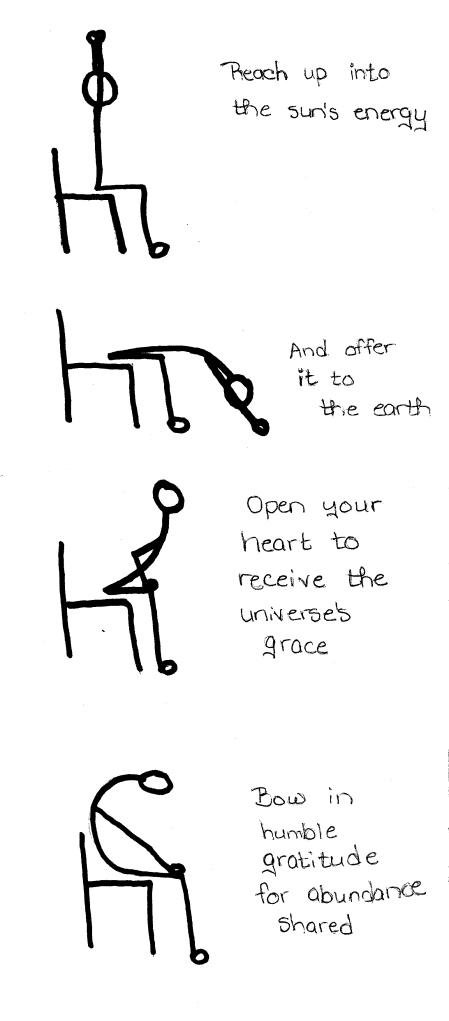 A chair yoga prayer of thanksgiving.