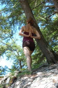 Yoga teaches me how to walk mindfully in the outdoors.