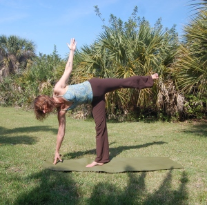 Playing in Ardha Chandrasana during a recent trip to Florida. I love balance poses!